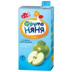 Сок ФРУТОНЯНЯ яблоко осветленный, 500г