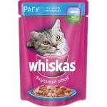 Корм для кошек WHISKAS с лососем и форелью, 85г