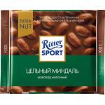 Шоколад молочный RITTER SPORT Цельный миндаль, 100г