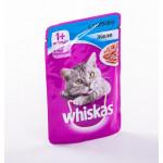 Корм для кошек WHISKAS Желе с лососем, 85г
