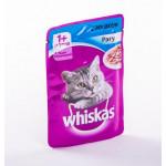 Корм для кошек WHISKAS рагу с лососем, 85г