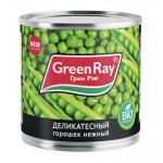 Горошек зеленый GREEN RAY нежный из мозговых сортов, 425 мл