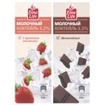 Молочный коктейль FINE LIFE 3,2% шоколадный, 950г