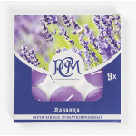 Свечи чайные РСМ Лаванда ароматизированные в упаковке, 9шт
