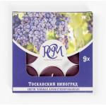 Свечи чайные РСМ Тосканский виноград ароматизированные, 9 шт