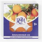 Свечи чайные РСМ Апельсиновый сок ароматизированные, 9 шт.
