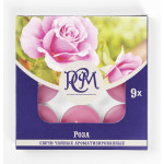 Свечи чайные РСМ Роза ароматизированные в упаковке, 9шт