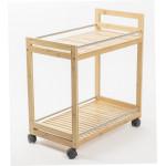 Стол сервировочный бамбуковый, 55х32х62см