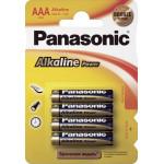 Батарейки PANASONIC ALKALINE AAA, 4 шт