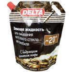 Зимняя жидкость для омывания ветрового стекла автомобиля DELTA 20°С с бодрящим ароматом кофе, 3 л