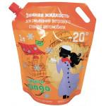 Зимняя жидкость для омывания ветрового стекла автомобиля -20°C с запахом Mango дой-пак, 3л