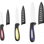 Набор керамических ножей в чехлах, 3шт