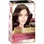 Краска для волос L`OREAL Excellence creme тёмно-каштановый 3, 193мл