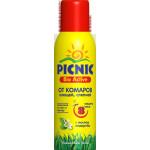 Аэрозоль от комаров, клещей, слепней Picnic Bio Active, 125 мл