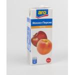 Нектар ARO яблоко-персик в упаковке, 6х0,2л