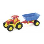 Игрушечный автомобиль ZEBRATOYS Трактор с прицепом
