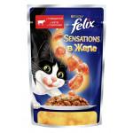 Корм для кошек FELIX с говядиной в желе с томатами, 85г