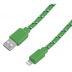 Кабель GAL USB A-iPhone тканевый, 1м
