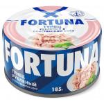 Тунец FORTUNA рубленый в собственном соку, 185 г