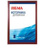 Фоторамка SIGMA деревянная A4 вишня 21х29.7