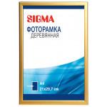 Фоторамка SIGMA деревянная A4 золото 21х29.7