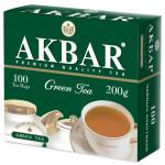 Чай зеленый AKBAR пакетированный, 100х2г