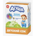 Сок АГУША Яблоко осветленный в упаковке, 3х200мл