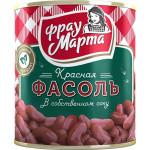 Фасоль ФРАУ МАРТА красная в собственном соку, 310г