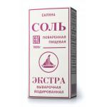 Соль САЛИНА Экстра поваренная пищевая выварочная йодированная, 1кг