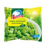 Овощи 4 СЕЗОНА Лоби зеленый нарезанный быстрозамороженные, 400г