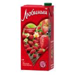 Сок ЛЮБИМЫЙ Земляничное лето, 1,93 л