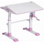 Детский стол розовый 80*67*58-78 см
