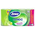 Туалетная бумага ZEWA PLUS Яблоко двухслойная, 8 рулонов