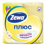 Туалетная бумага ZEWA Плюс аромат ромашки 2 слоя, 4 шт