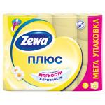Туалетная бумага ZEWA Плюс Ромашка двухслойная в упаковке, 12рулонов