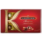 Шоколадные конфеты КОРКУНОВ темный и молочный шоколад, 192 г