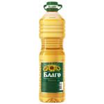 Масло подсолнечное БЛАГО рафинированное, 2л