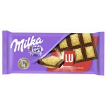 Шоколад молочный MILKA с печеньем Lu, 87г