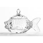 Икорница BRIVERRE Рыбка стекло, 15*7.5 см