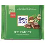 Шоколад молочный RITTER SPORT Лесной орех, 100г