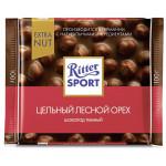 Шоколад темный RITTER SPORT Цельный лесной орех, 100г