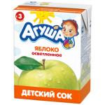Сок АГУША Яблоко-персик с мякотью для детей, 200мл