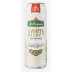 Пиво KALNAPILIS White Select в железной банке, 0.568 л