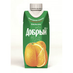 Нектар ДОБРЫЙ Апельсин, 0,33 л