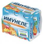 Напиток кисломолочный ИМУНЕЛЕ Мультифрукт 1,2% в упаковке, 6х100г