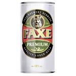 Пиво FAXE Premium в железной банке, 0.9 л
