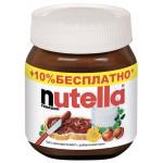 Шоколадная паста NUTELLA, 350 г+10%