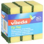 Губка для мытья посуды VILEDA TIP-TOP, 3 шт