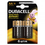 Батарейки DURACELL BASIC АА в упаковке, 6 шт