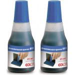 COLOP Краска для штампа Синий цвет. 2/25 мл